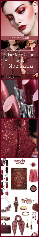 Marsala - Pantone colour of the year - 2015 Luxurydotcom