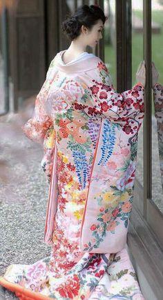 """thekimonogallery: """" Uchikake, Wedding Kimono. Japan. """""""