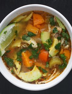 ... Soups on Pinterest | Sweet potato soup, Eating well and Barley soup