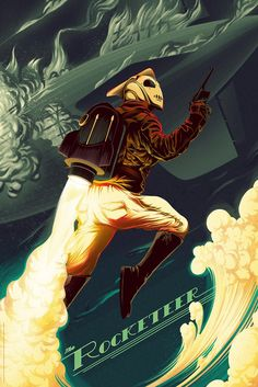 THE ROCKETEER Gets an Eye-Popping Mondo Poster — GeekTyrant