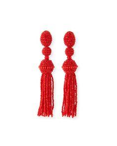 Long+Beaded+Tassel+Clip-On+Earrings+by+Oscar+de+la+Renta+at+Neiman+Marcus.