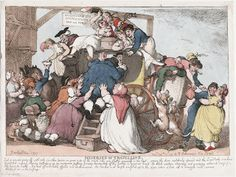 Miseries of Travelling - Rowlandson