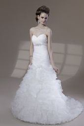 Venus wedding dress/gown- white mermaid style wedding dress with beading and bust detail, strapless and sweetheart neckline. For the Bride Boutique Ft. Myers, Florida