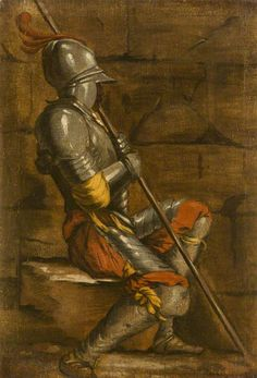 A Figure in Armour, by Salvator Rosa