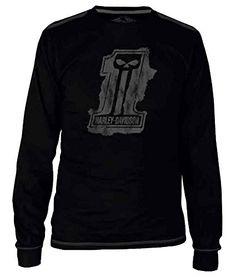 711c2659ef2 Harley-Davidson Men s Black Label Splat Long Sleeve T-Shirt - Black  30291524 (