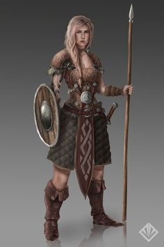 Female warrior by D3SMMUN.deviantart.com on @DeviantArt