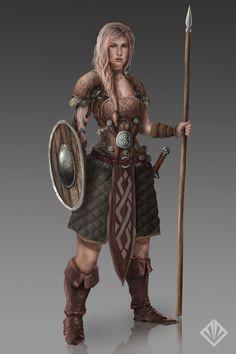 Female warrior by D3SMMUN.deviantart.com on @DeviantArt