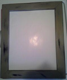 Modern Khaki & Black Distressed 11 x 14 Picture Frame