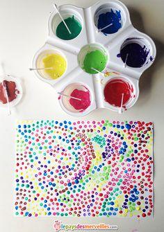 peinture enfant coton tige