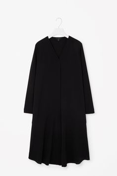 COS image 5 of Shirt dress with slits in Black