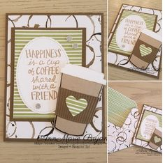 card coffee cup cups SU Stampin Up cafe coffee beans latte mocca