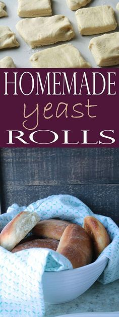 These are the BEST Homemade Yeast Rolls! You'll love this easy yeast rolls recipe that produces melt-in-your-mouth yeast rolls. Healthy Bread Recipes, Best Dessert Recipes, Easy Desserts, Fall Recipes, Great Recipes, Best Yeast Rolls, Homemade Yeast Rolls, Rolls Rolls, Dinner On A Budget