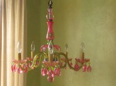 Crystal and Glass Chandelier
