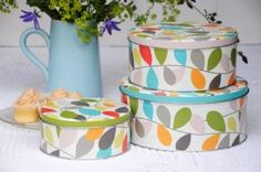Set of 3 Vintage Ivy Cake Tins