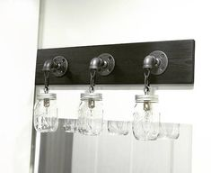 Rustic Handmade Modern Mason Jar Light Bathroom Lighting Fixture 2 Vanity Bar With Authentic Jars