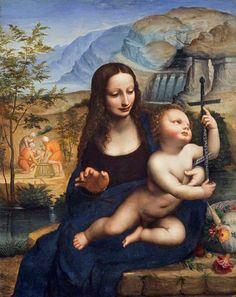 The Madonna of the Yarnwinder Leonardo da Vinci (1452–1519) (after), National Galleries of Scotland, Scottish National Gallery