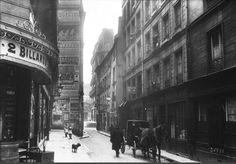La rue des Anglais et ses maisons insalubres photographiées en 1913 (photo Agence Rol) (Paris 5ème)