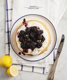 Blackberry Lemon Cake from Love & Lemons |   Read more - http://www.stylemepretty.com/living/2013/07/31/blackberry-lemon-cake-from-love-lemons/