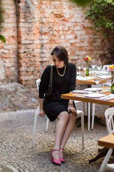 Vestido Zara - Bolsa Arezzo - Colar Ana Agnol - Sapato Petite Jolie