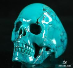 Turquoise Crystal Skull Ring