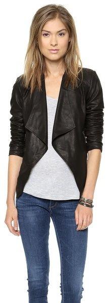 BB Dakota Tyne Leather Jacket on shopstyle.com