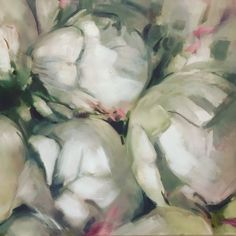 Oil on canvas painting by Melissa Von Brughan vonbrughan@gmail.com White Peonies, Oil On Canvas, Artwork, Painting, Work Of Art, Auguste Rodin Artwork, Painted Canvas, Painting Art, Artworks