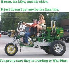 A man, his bike, and his chick...sweet