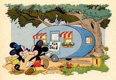Mickey and Minnie's first camping trailer