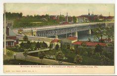 GIRARD AVENUE BRIDGE Fairmount Park Phil Pa Vintage Postcard