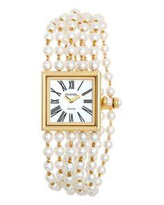 Chanel Women's 'Mademoiselle Perles' Watch