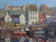 John C. Traynor, Return to Port, oil, 9 x 12.