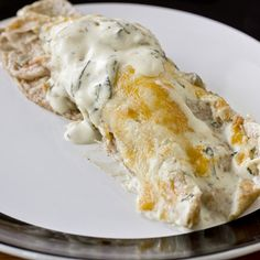 Skinny Sour Cream Enchiladas