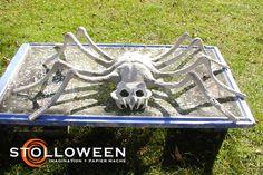 spiderandcauldron1 Creepy Halloween Props, Halloween Spider, Halloween Art, Spider Decorations, Crafts To Do, Spiders, Holidays, Fall, Inspiration