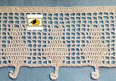 Ravelry: Feline Filet Edging pattern by Karen Glasgow Follett pattern available for purchase