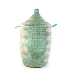 Fab.com | Hamper Aqua Medium Swahili African Modern