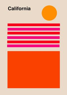 California Print Wall Art Decor california poster Travel Poster Vintage Los Angeles geometric print minimalist poster california art ALL ABOUT NEXT Graphic Design Posters, Graphic Design Illustration, Graphic Design Inspiration, Typography Design, Retro Graphic Design, Graphic Design Projects, Typography Poster, Display Design, Design Art