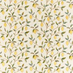 Morris and Co Lemon Tree Embroidery Bayleaf/Lemon Fabric | Designer Fabrics 2019 | TM Interiors Inspired by the lemons in Fruit one of William Morris most loved wallpapers Lemon Trees finely embroidered lemons share an exquisite level of detail. Trailing branches and delicate blossom create this fresh and calming design which displays a lovely drape. #fabric #fabrics #morrisandco