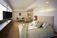 Stilvolle Wohnung Schlafzimmer Lounge Raumteiler Tv Kunst - Tv im schlafzimmer