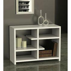 Northfield Floating 4-Shelf Console Bookcase.  $115.  (L x W x H): 38.0 x 15.5 x 28.0