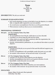 take a look at this combination resume template to see why employers like it so much this resume format is great for career change and work history - Job Resume Sample