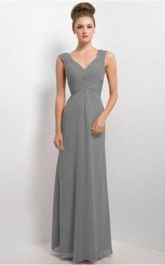 Sleeveless Zipper V-neck Knee-length Chiffon Formal Dresses b140664