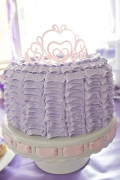 Ruffle Princess Cake- with gumpaste tiara