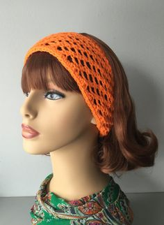 Hey, I found this really awesome Etsy listing at https://www.etsy.com/listing/221746004/orange-knitted-headband-with-crochet