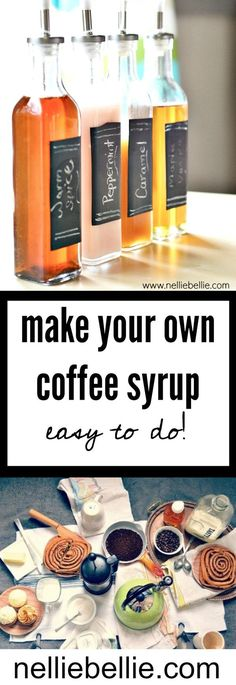 Make your own Coffee Syrup! Easy to do and customize! This is a great way to save money on your grocery bill, and if you package these up cute, they make a delightful gift.