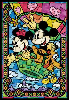 Tenyo Disney Mickey Mouse and Minnie Mouse, Transparent Stained Art Gyutto Size 500 pcs. Gifts Online Today - sell Japan jigsaw puzzle, classic and out of print jigsaw puzzles to worldwide. Disney All Characters Collection. Disney Mickey Mouse, Walt Disney, Disney Pixar, Disney Amor, Mickey Mouse Y Amigos, Retro Disney, Mickey Mouse And Friends, Disney Love, Disney Magic