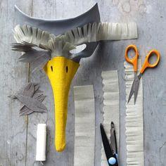 paper mache bird mask | How to make a Bird Mask featured on Bambino Goodies