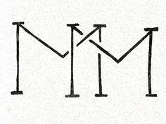 MM Monogram designed by Abbe Sublett. Music Tattoos, Mom Tattoos, Small Tattoos, Tattoos For Guys, Monogram Design, Monogram Logo, Logo Design, Graphic Design, Mm Logo
