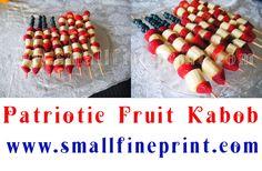 Patriotic Fruit Kabobs - SmallFinePrint