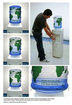 Water Conservation Guerilla marketing by WWF Guerilla Marketing Examples, Guerrilla Advertising, Clever Advertising, Advertising Campaign, Advertising Design, Street Marketing, Viral Marketing, Marketing And Advertising, Social Marketing