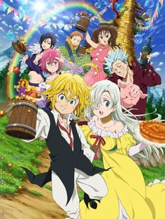 trendy wallpaper anime nanatsu no taizai Seven Deadly Sins Anime, 7 Deadly Sins, Elizabeth Seven Deadly Sins, Otaku Anime, Manga Anime, Anime Angel, Anime Love, Awesome Anime, Animé Fan Art
